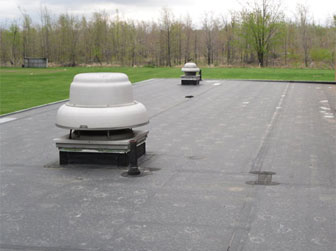 An example of a commercial roof we have done.